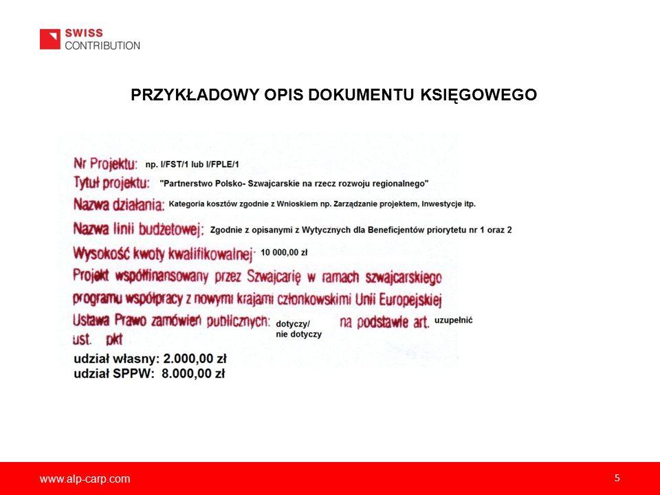 www.alp-carp.com 6 OPIS DOKUMENTU KSIĘGOWEGO C.D.