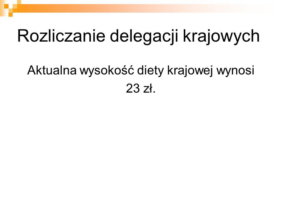 Rozliczanie delegacji krajowych Czy formularze rozliczenia delegacji służbowych są drukami obowiązującymi zgodnie z przepisami ustawy.