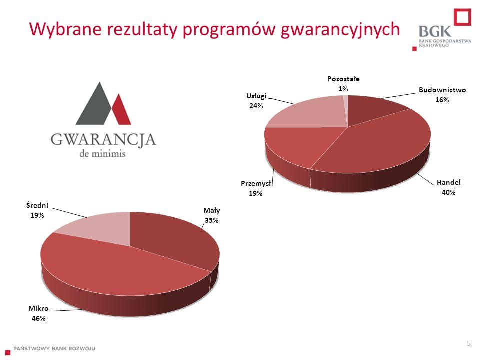 Wybrane rezultaty programów gwarancyjnych 5