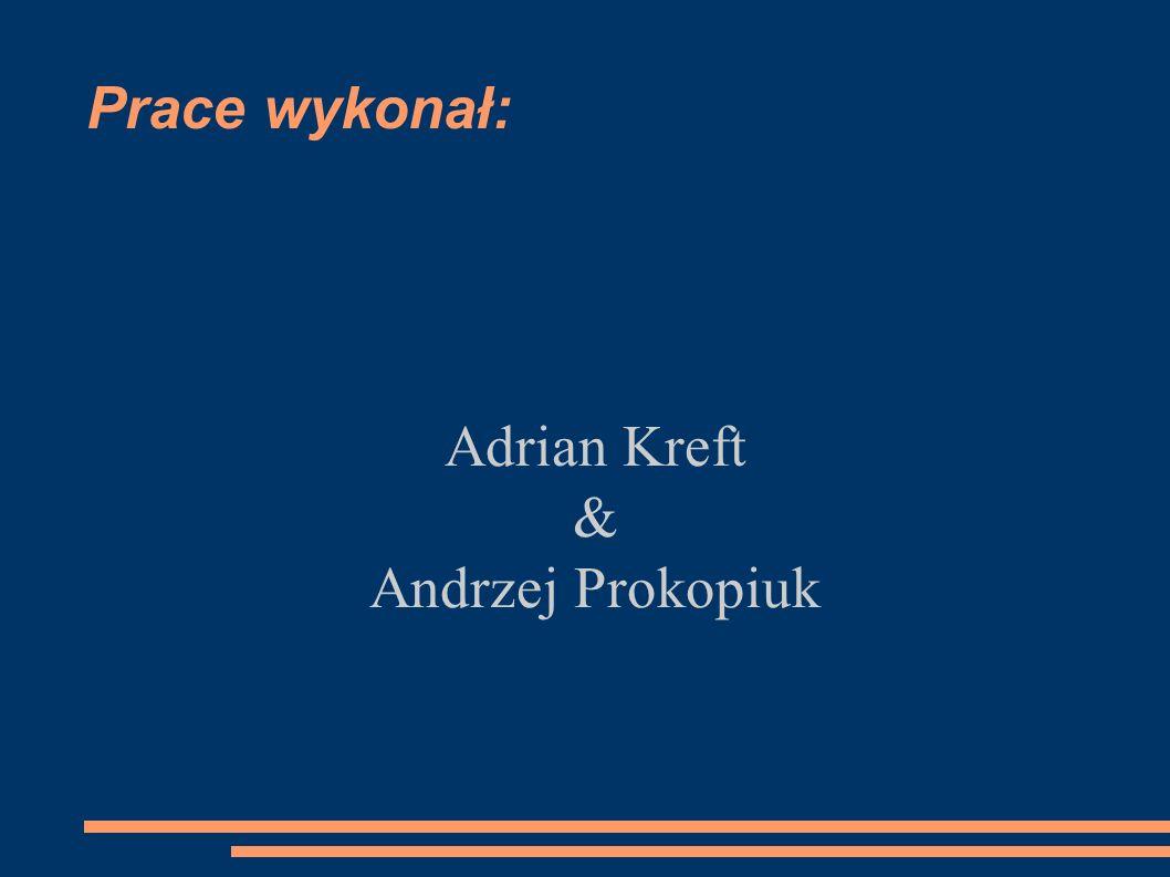 Prace wykonał: Adrian Kreft & Andrzej Prokopiuk