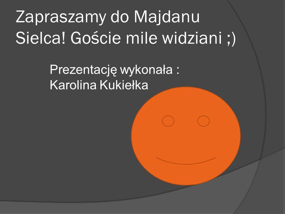 Zapraszamy do Majdanu Sielca! Goście mile widziani ;) Prezentację wykonała : Karolina Kukiełka