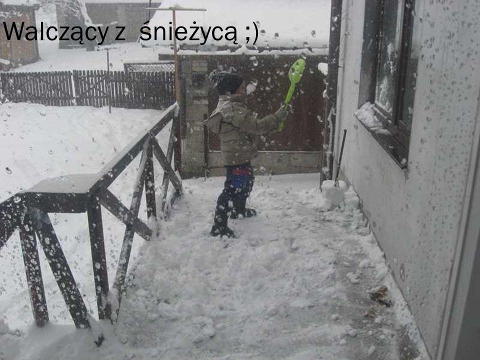 Walczący z śnieżycą ;)