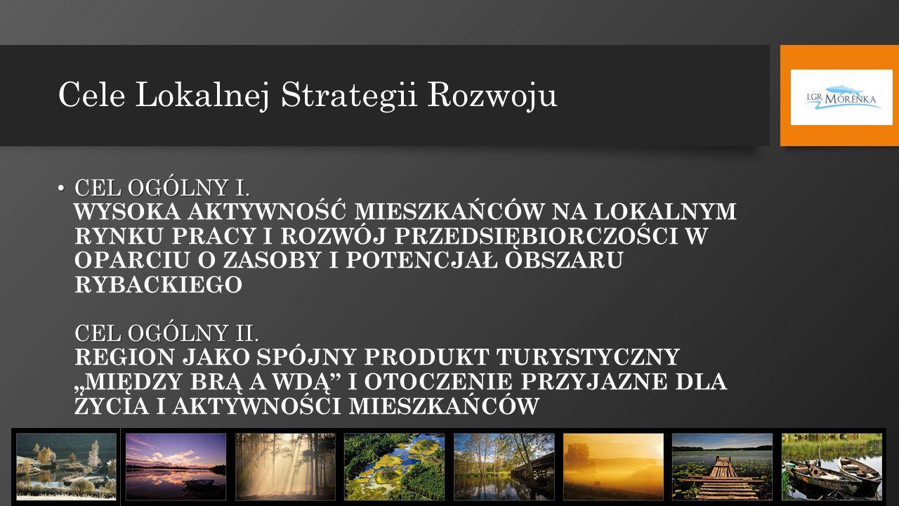 Cele Lokalnej Strategii Rozwoju CEL OGÓLNY I. CEL OGÓLNY II. CEL OGÓLNY I. WYSOKA AKTYWNOŚĆ MIESZKAŃCÓW NA LOKALNYM RYNKU PRACY I ROZWÓJ PRZEDSIĘBIORC
