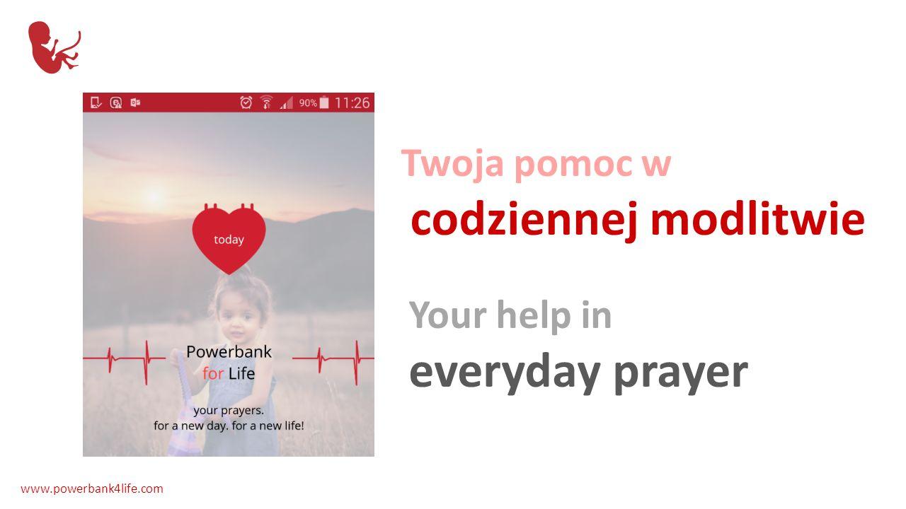 Tekst modlitwy codziennej Daily prayer easily accessible www.powerbank4life.com
