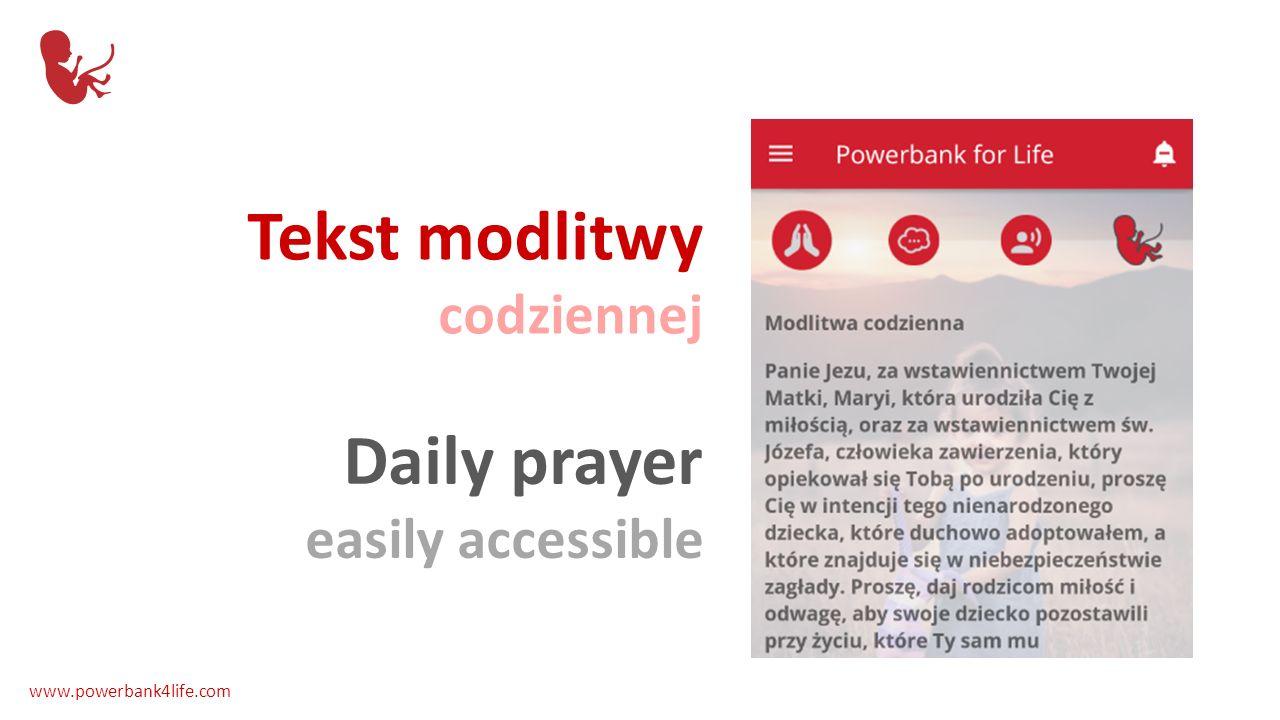 Rozważanie różańcowe na każdy dzień Rosary meditation for everyday www.powerbank4life.com