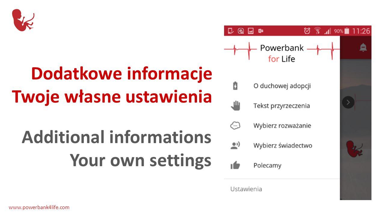 Wszystkie teksty w Twoim języku All texts in your language www.powerbank4life.com