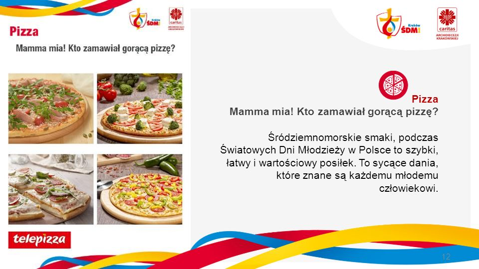 Pizza Mamma mia. Kto zamawiał gorącą pizzę.