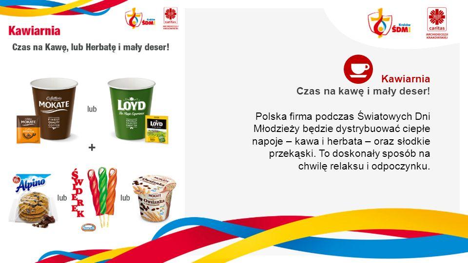 Kawiarnia Czas na kawę i mały deser! Polska firma podczas Światowych Dni Młodzieży będzie dystrybuować ciepłe napoje – kawa i herbata – oraz słodkie p