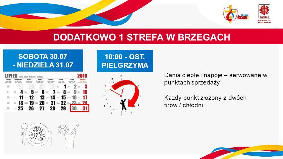 DODATKOWO 1 STREFA W BRZEGACH SOBOTA 30.07 - NIEDZIELA 31.07 10:00 - OST.