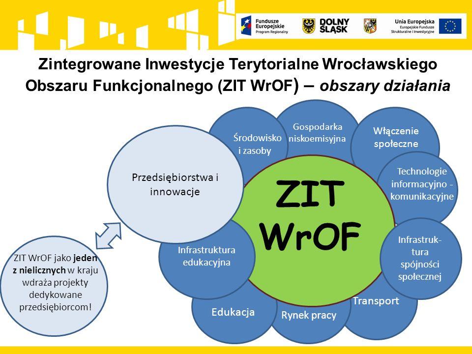 Zintegrowane Inwestycje Terytorialne Wrocławskiego Obszaru Funkcjonalnego (ZIT WrOF ) – obszary działania Transport ZIT WrOF Gospodarka niskoemisyjna