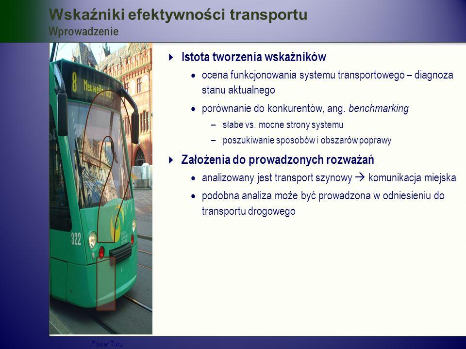 Wskaźniki efektywności transportu Wprowadzenie  Istota tworzenia wskaźników  ocena funkcjonowania systemu transportowego – diagnoza stanu aktualnego