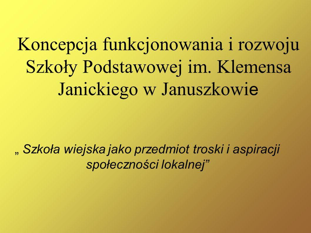 Koncepcja funkcjonowania i rozwoju Szkoły Podstawowej im.