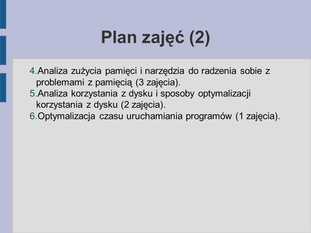 Plan zajęć (2) 4.