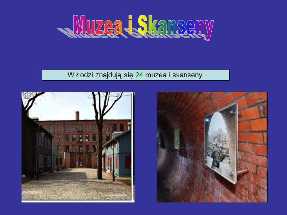 W Łodzi znajdują się 24 muzea i skanseny.