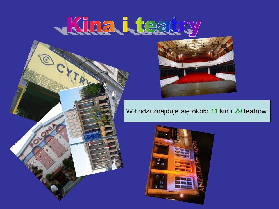 W Łodzi znajduje się około 11 kin i 29 teatrów.