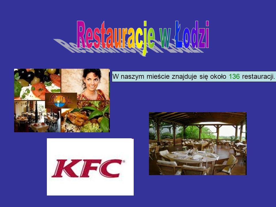 W naszym mieście znajduje się około 136 restauracji.