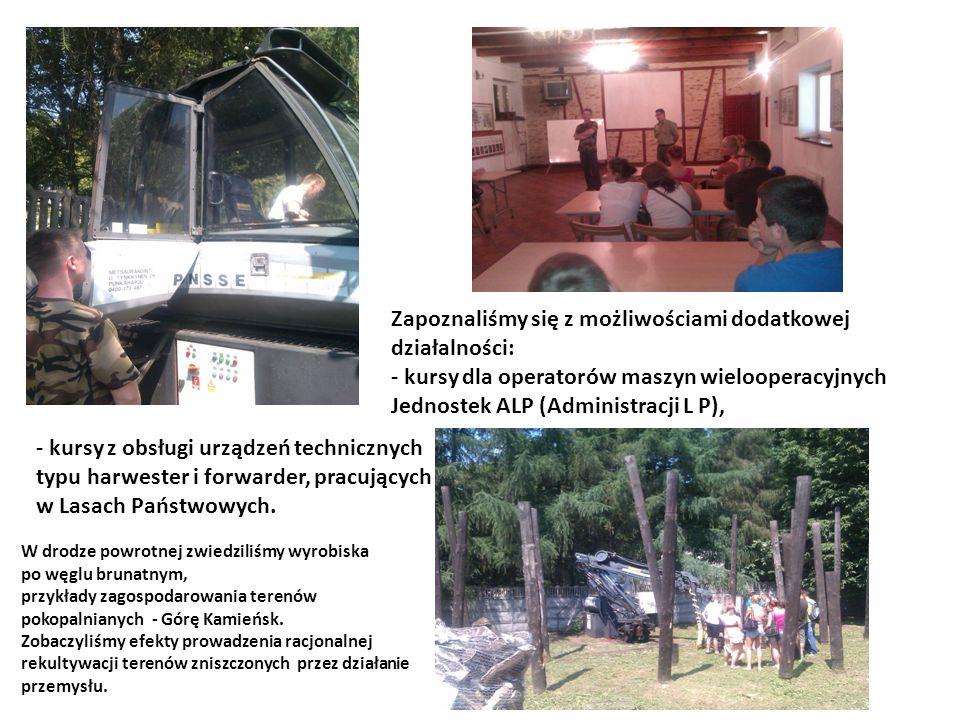 W drodze powrotnej zwiedziliśmy wyrobiska po węglu brunatnym, przykłady zagospodarowania terenów pokopalnianych - Górę Kamieńsk.