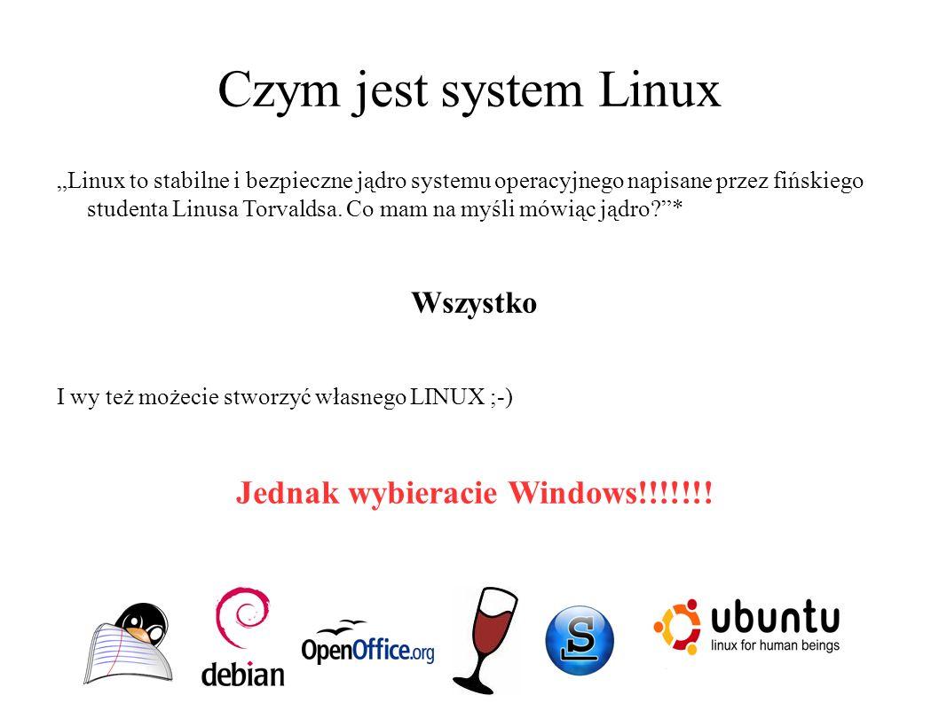 """Czym jest system Linux """"Linux to stabilne i bezpieczne jądro systemu operacyjnego napisane przez fińskiego studenta Linusa Torvaldsa. Co mam na myśli"""