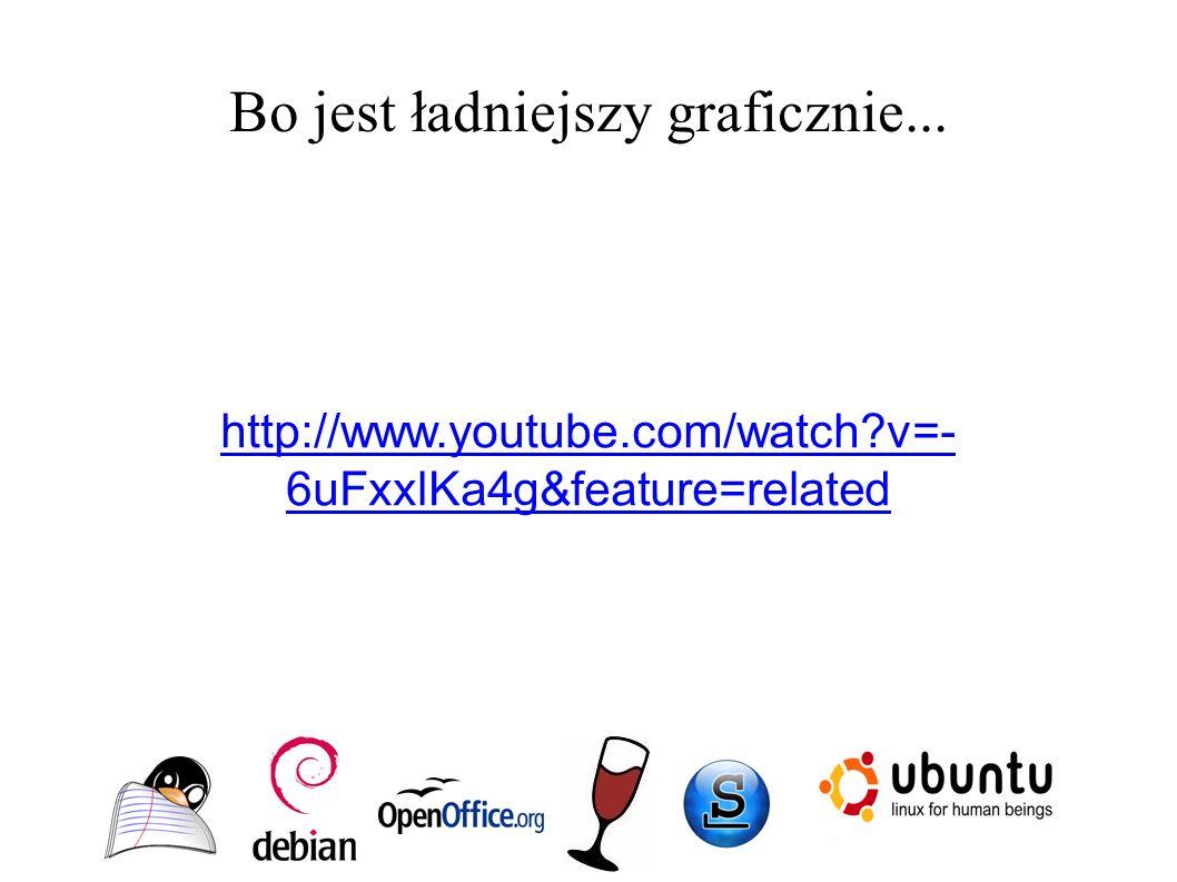 Bo jest ładniejszy graficznie... http://www.youtube.com/watch v=- 6uFxxlKa4g&feature=related