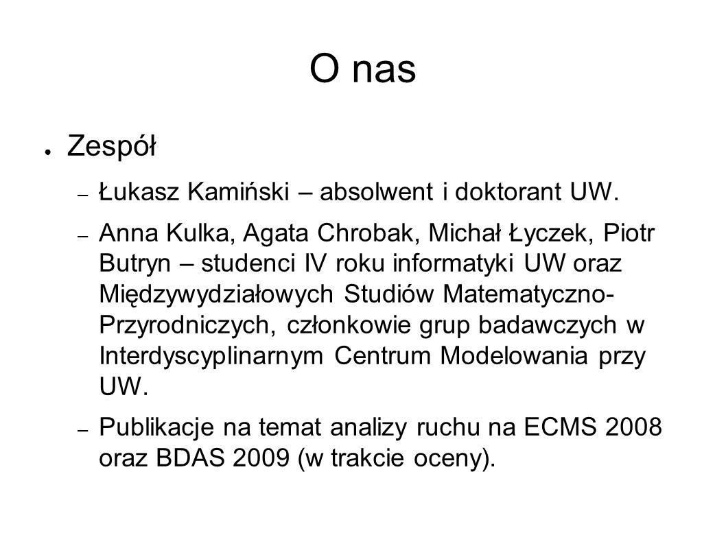 O nas ● Zespół – Łukasz Kamiński – absolwent i doktorant UW.