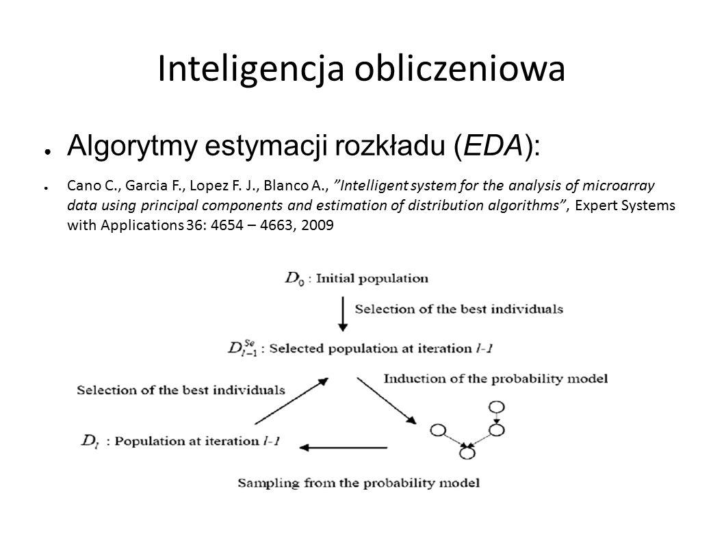 Inteligencja obliczeniowa ● Algorytmy estymacji rozkładu (EDA): ● Cano C., Garcia F., Lopez F.