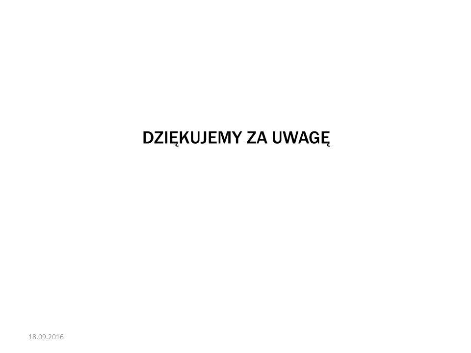18.09.2016 DZIĘKUJEMY ZA UWAGĘ