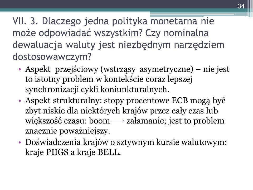 VII. 3. Dlaczego jedna polityka monetarna nie może odpowiadać wszystkim.