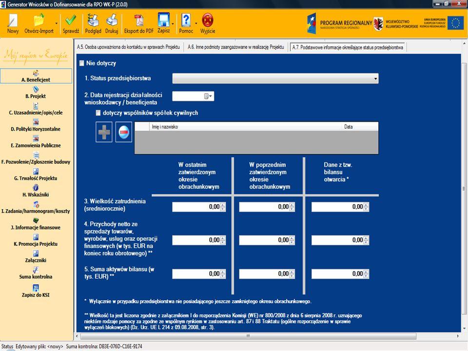 11 Sekcja A Informacje o beneficjencie A.7.