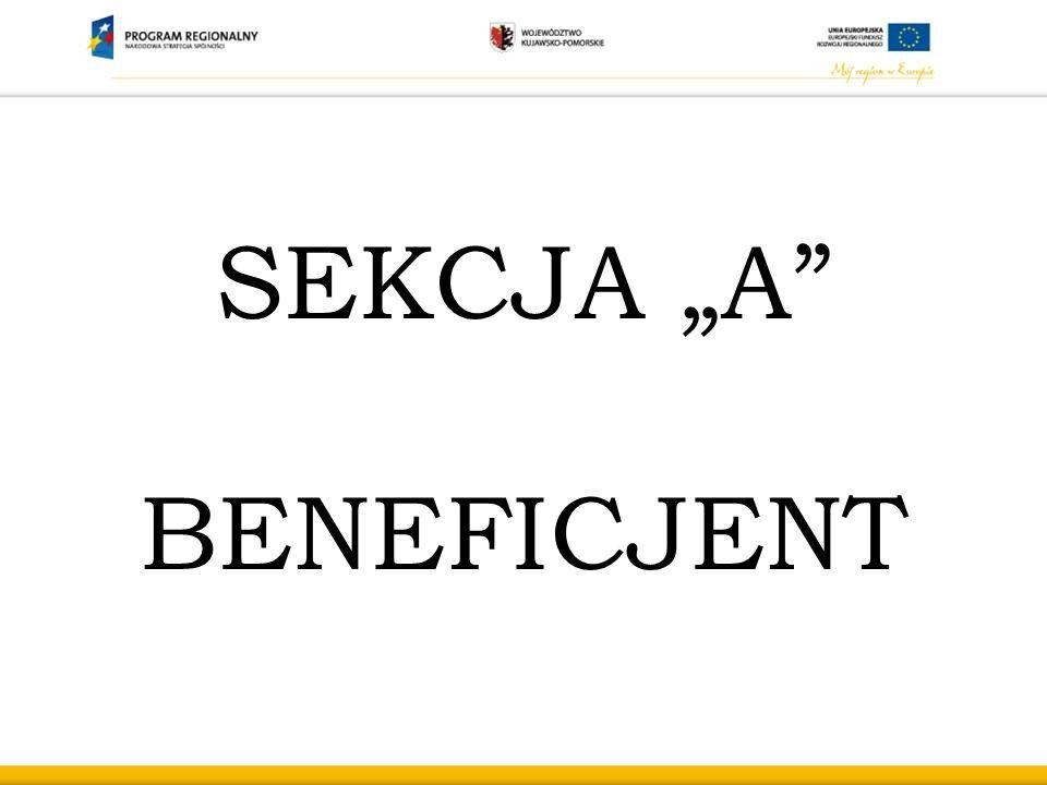 "SEKCJA ""A"" BENEFICJENT"