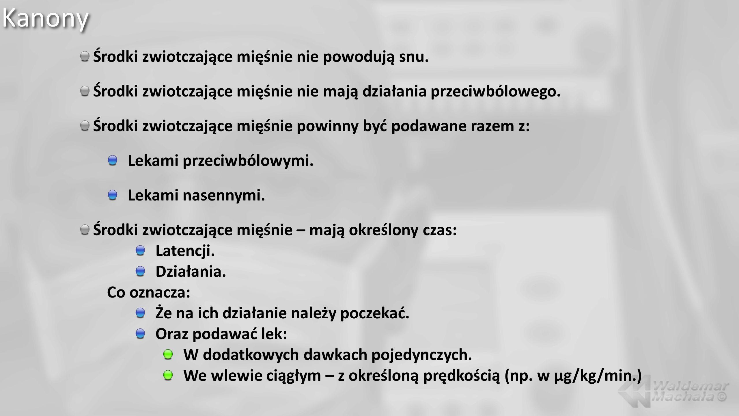 Środki zwiotczające mięśnie w OIT Anafilaksja 1.Mertes PM, Tajima K, Regnier-Kimmoun MA i wsp.: Perioperative anaphylaxis.