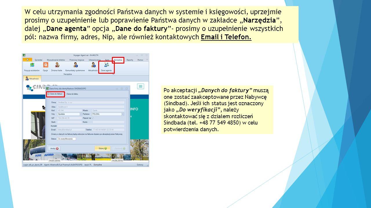 Agent po podpisaniu umowy o samofakturowaniu dzięki dostępie do modułu fakturowego może zrezygnować z papierowej wysyłki faktury do przewoźnika.