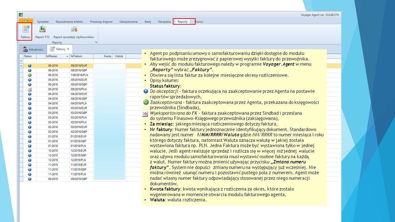 """Przyciski funkcyjne modułu: - wywołuje podgląd wydruku """"Rozliczenie za okres , – umożliwia zmianę automatycznie nadanego przez system numeru faktury na dowolny, – wyświetlenie dokumentu, - zatwierdzenie faktury za dany okres rozliczeniowy"""