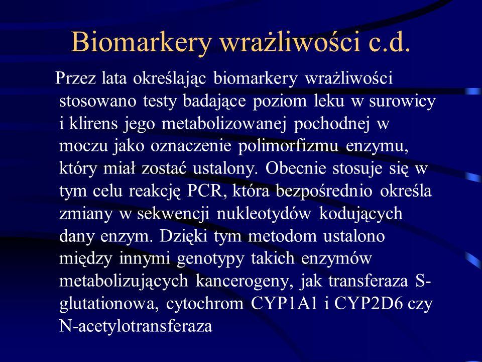 Biomarkery wrażliwości c.d.