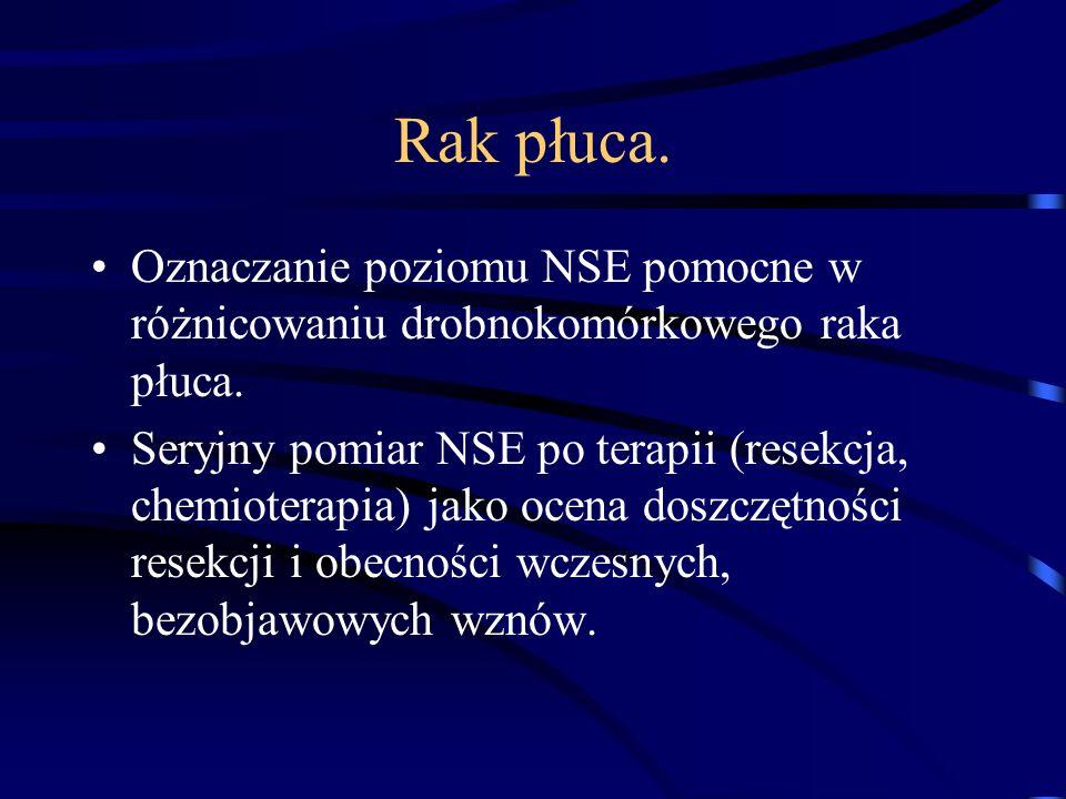 Rak płuca. Oznaczanie poziomu NSE pomocne w różnicowaniu drobnokomórkowego raka płuca.