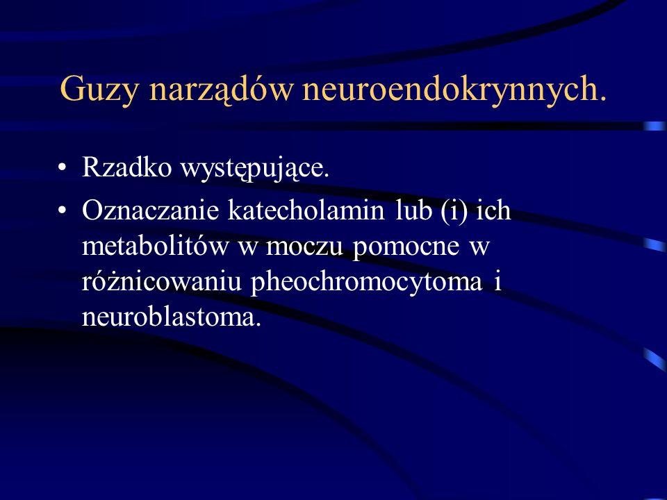 Guzy narządów neuroendokrynnych. Rzadko występujące.