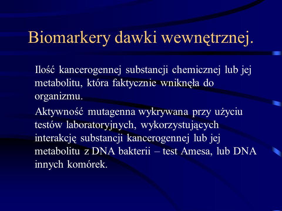 Biomarkery dawki wewnętrznej.