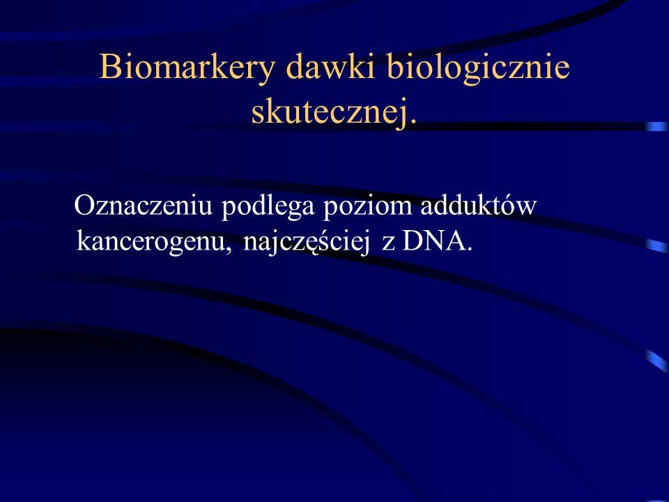 Biomarkery dawki biologicznie skutecznej.
