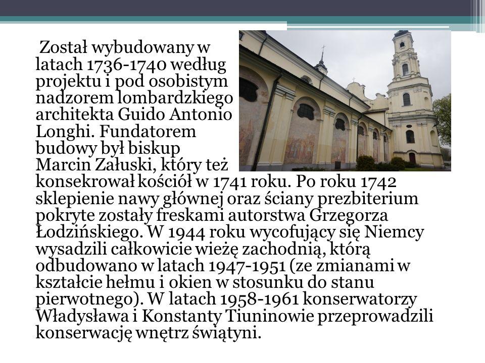 Został wybudowany w latach 1736-1740 według projektu i pod osobistym nadzorem lombardzkiego architekta Guido Antonio Longhi.