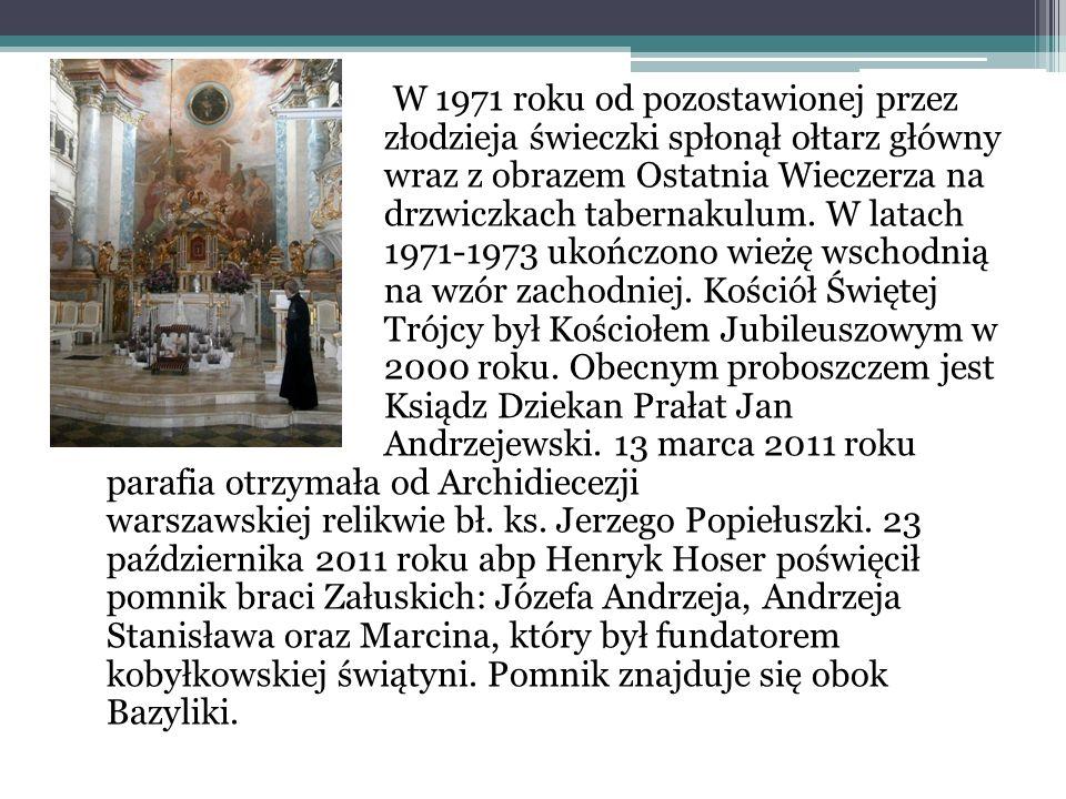 W 1971 roku od pozostawionej przez złodzieja świeczki spłonął ołtarz główny wraz z obrazem Ostatnia Wieczerza na drzwiczkach tabernakulum.