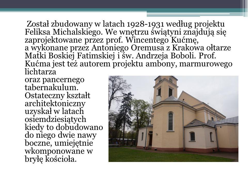 Został zbudowany w latach 1928-1931 według projektu Feliksa Michalskiego.