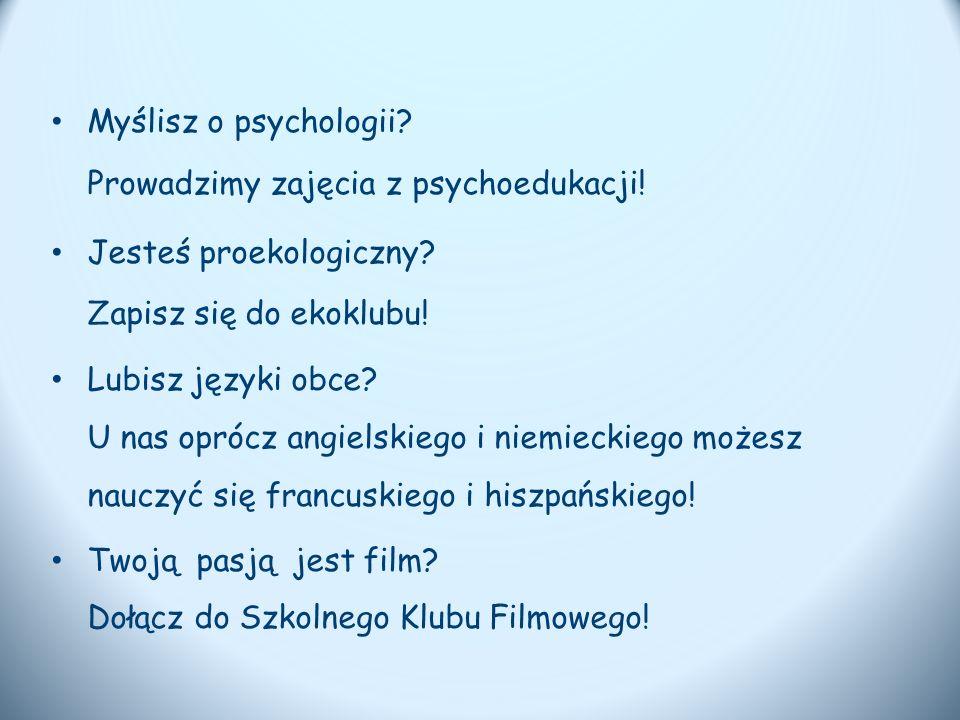 Myślisz o psychologii. Prowadzimy zajęcia z psychoedukacji.