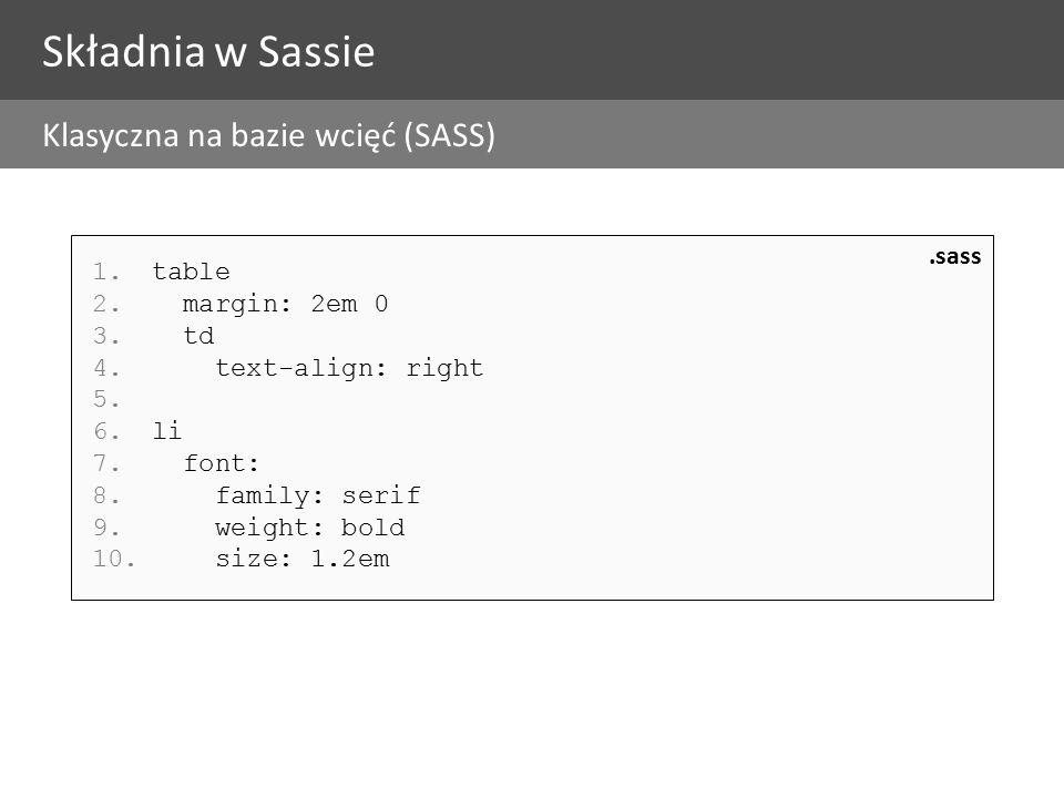 1.table 2. margin: 2em 0 3. td 4. text-align: right 5.