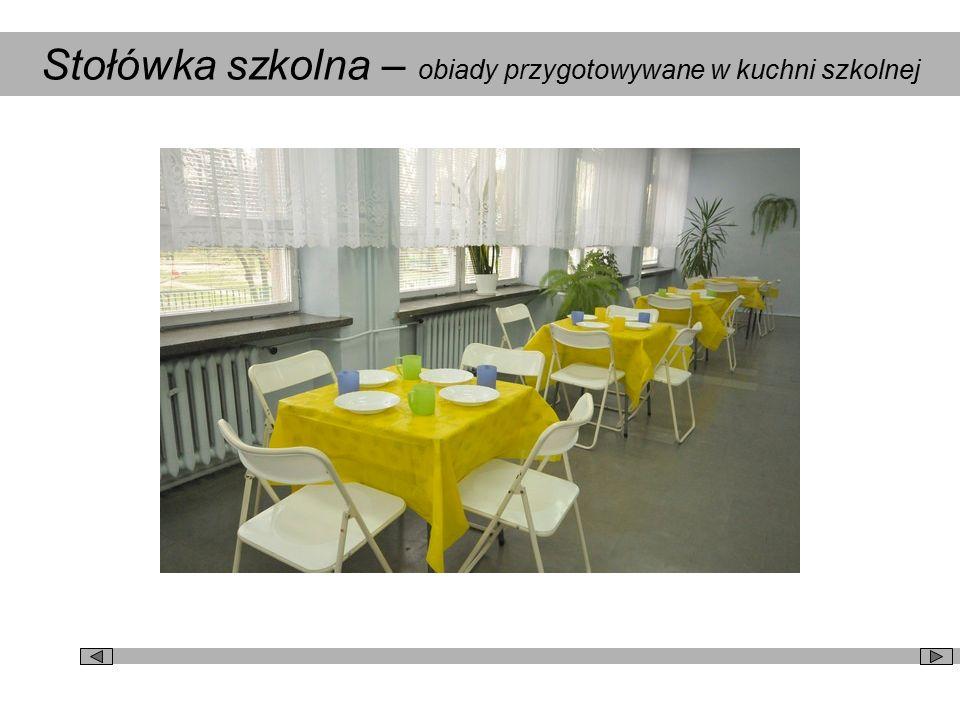 Stołówka szkolna – obiady przygotowywane w kuchni szkolnej