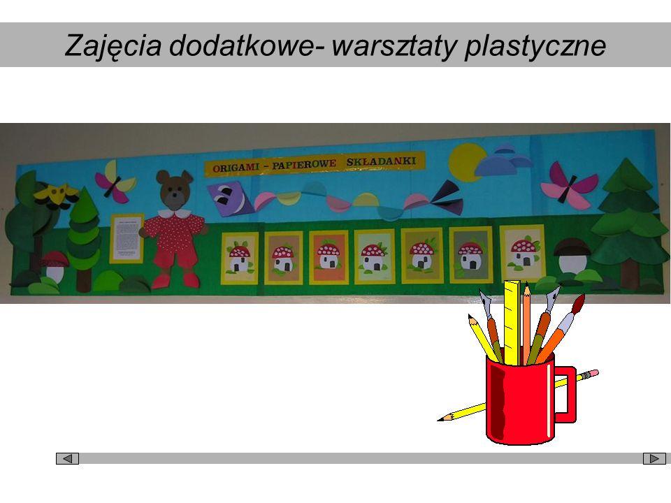 Zajęcia dodatkowe- warsztaty plastyczne