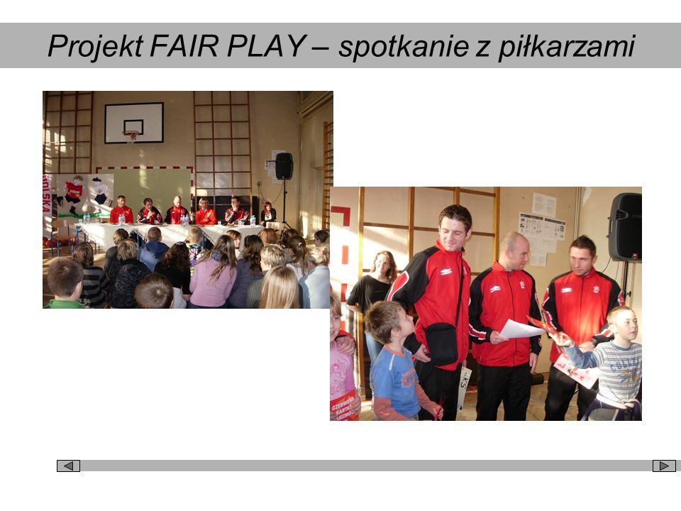 Projekt FAIR PLAY – spotkanie z piłkarzami