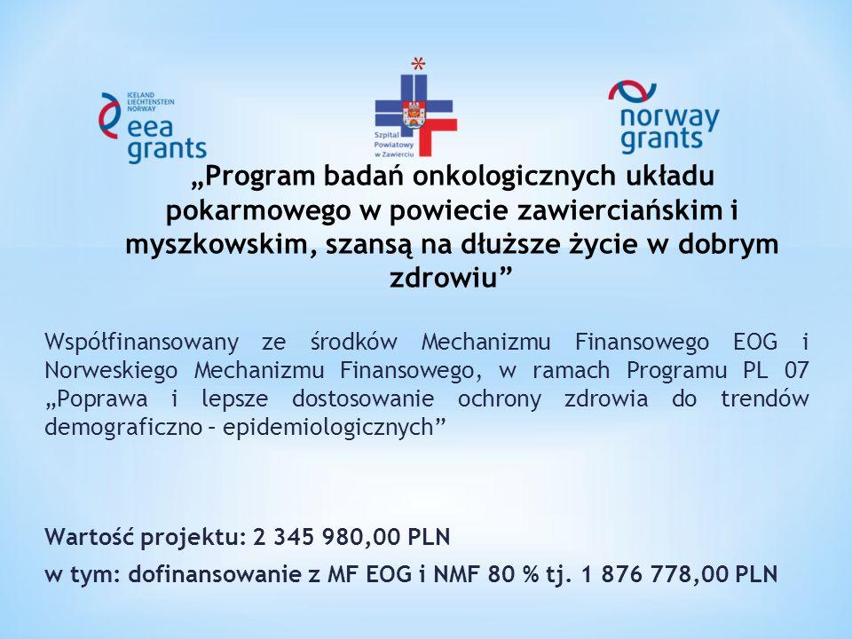 """Współfinansowany ze środków Mechanizmu Finansowego EOG i Norweskiego Mechanizmu Finansowego, w ramach Programu PL 07 """"Poprawa i lepsze dostosowanie oc"""
