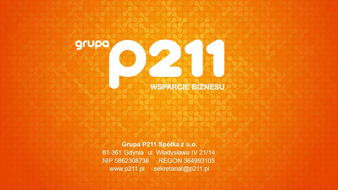 Grupa P211 Spółka z o.o. 81-361 Gdynia ul.