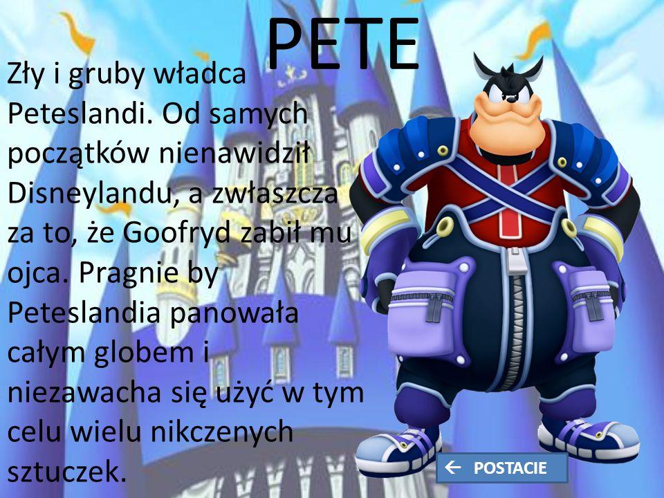 PETE Zły i gruby władca Peteslandi.