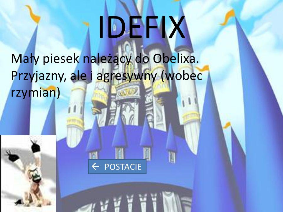 IDEFIX Mały piesek należący do Obelixa. Przyjazny, ale i agresywny (wobec rzymian)  POSTACIE