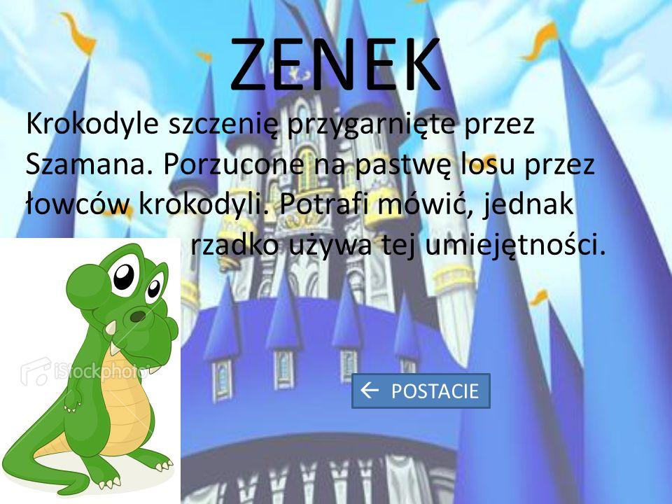 ZENEK Krokodyle szczenię przygarnięte przez Szamana.